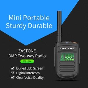 Image 5 - (2pcs) Zastone Mini9 plus DMR Mini Digital Walkie Talkie Portable UHF 400 470MHz HF Transceiver CB Radio