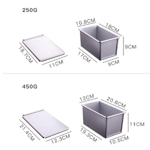 Image 4 - 250g/450g/750g/900/1000/1200g Aluminum Alloy Toast boxes Bread Loaf Pan cake mold baking tool with lid
