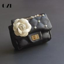 cute children's coin purse lolita flower crossbody bags for kids girls princess pearl wallet shoulder bag