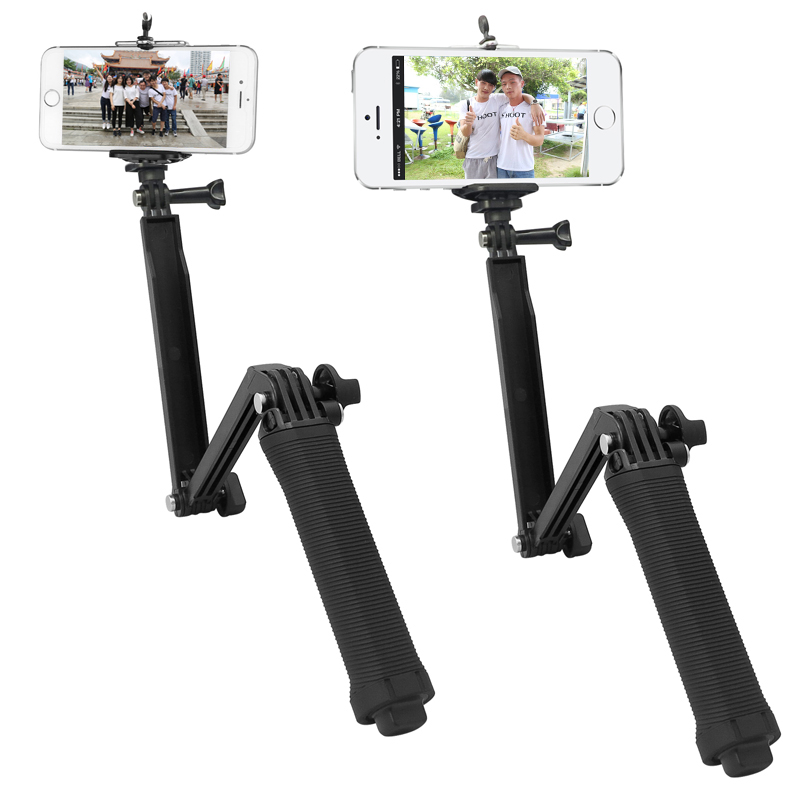 TIRER Multi Fonction 3 Façon Grip Manfrotto pour Téléphone Avec Clip Kits Selfie Bâton pour GoPro Hero 6 5 4 3 H9 H9r SJCAM Action Caméra