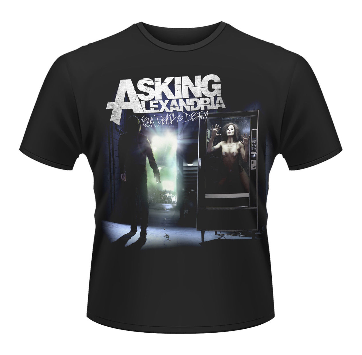 Asking Alexandria From Death To Destiny Rock Official Tee T-Shirt Mens Unisex Casual Short Sleeve T Shirt Novelty ...