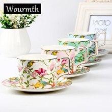 Wourmth single Fashion ceramic coffee cup set quality bone china cup bone china coffee cup disc
