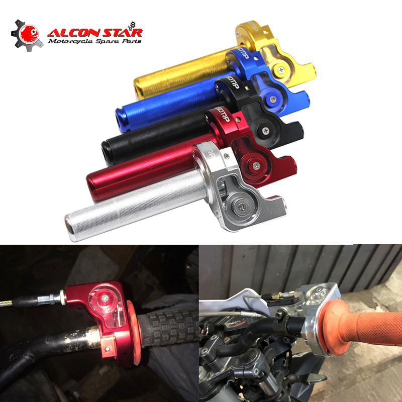 Alconstar 22mm Handlebar CNC Aluminum Visible Quick Twister Throttle Grip For Suzuki Honda Dirt Pit Bike Motorcycle Motocross