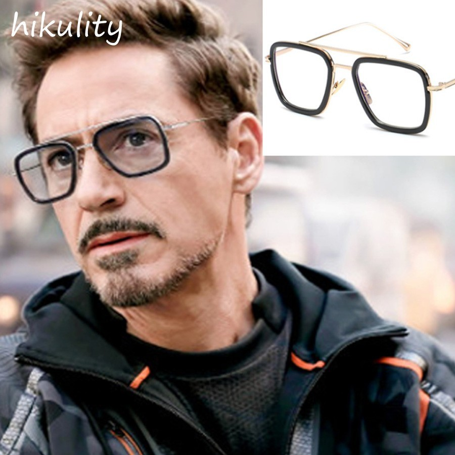 89221 Infinity War Tony Stark Clear Glasses for Men Vintage Rectangle Eyewear Frame Super Hero Iron Man Unique Eyeglasses Male image