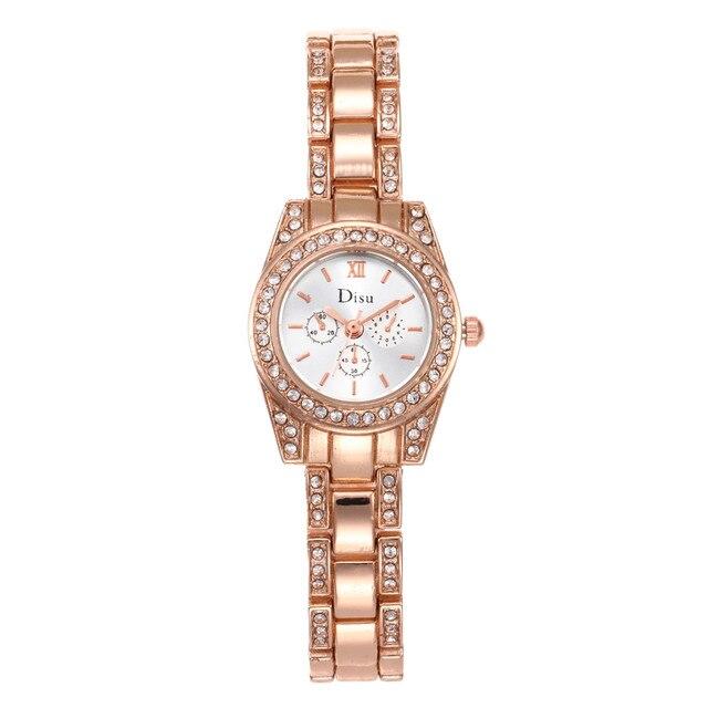 2018 tendencia de la moda señoras de la marca reloj del cuarzo caliente oro  rosa Color 63862bf357c8