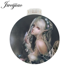 JWEIJIAO Fairy Pocket Mirror With Massage Comb Folding Compact Portable Makeup Hand Vanity Travel unique gift for women