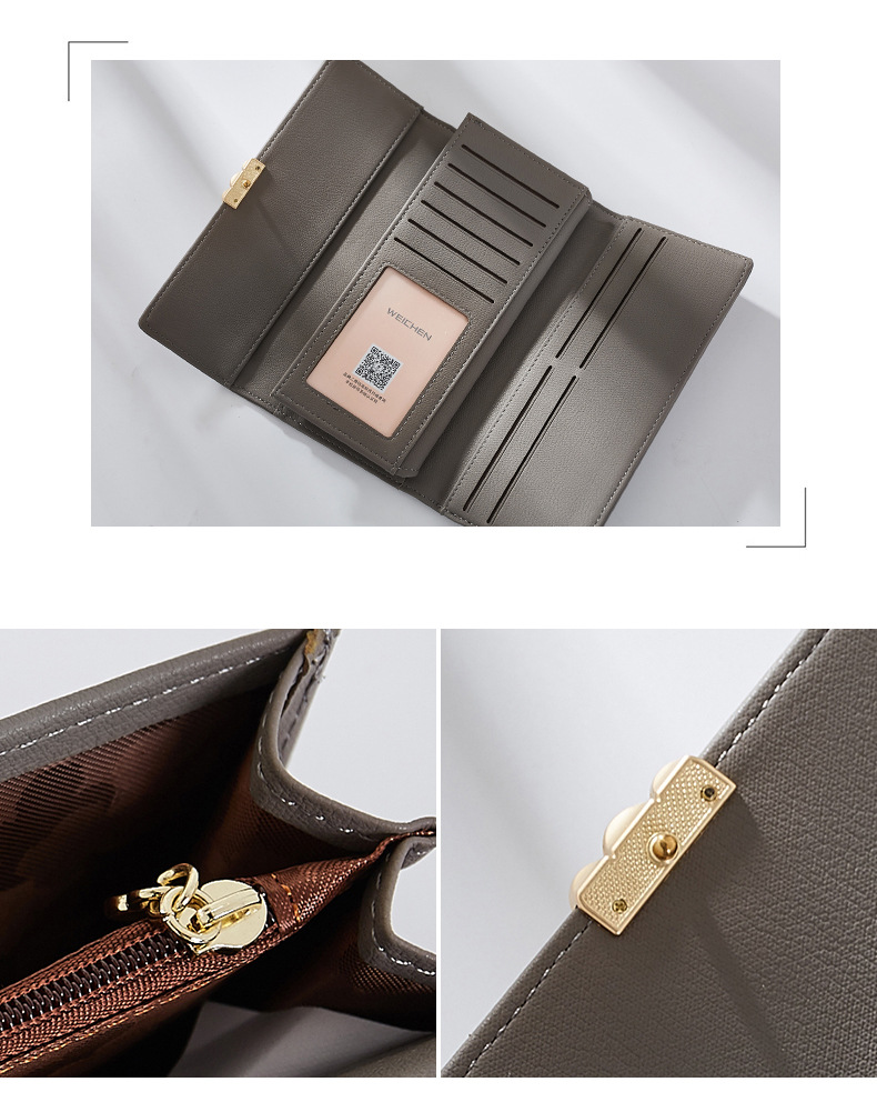 Women's Pearl Buckle Leather Wallet Bags and Wallets Hot Promotions New Arrivals Women's Wallets