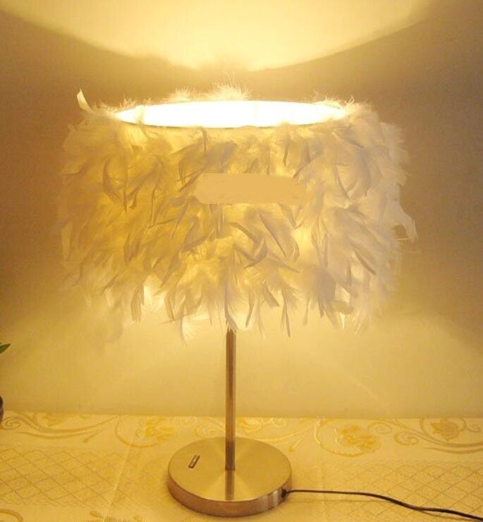 Новый Настольный Лампы для мотоциклов Перо лампа гостиная Светильник спальни Романтический теплые модные красивые настольные лампы zl333