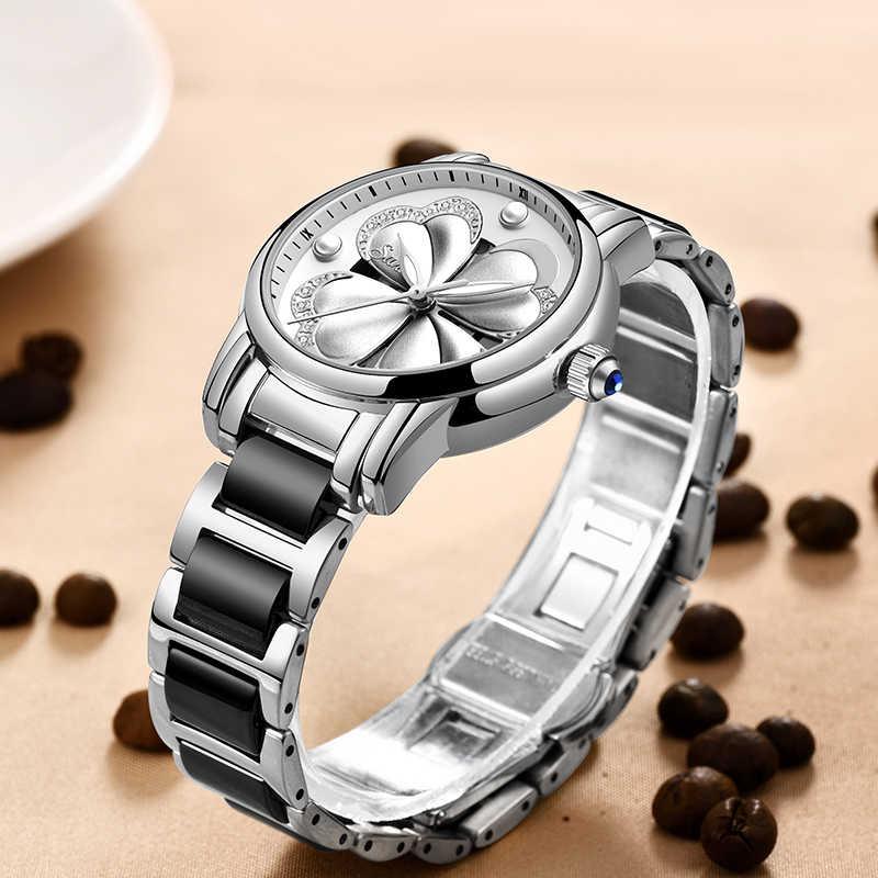 SUNKTA Listing Top Luxury Brand Women Watch Women's Ceramic Watch Fashion Dress Lady Girl Analog Quartz Clock Zegarek Damsk+Box