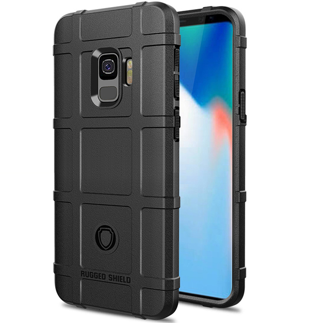 premium selection 37fc4 9bd86 US $2.66 26% OFF|Soaptree Rugged Silicone Cases For Samsung Galaxy S9 Plus  Case For Samsung Galaxy Note 9 J6 J4 Plus A7 A9 2018 A6S shield Cover-in ...