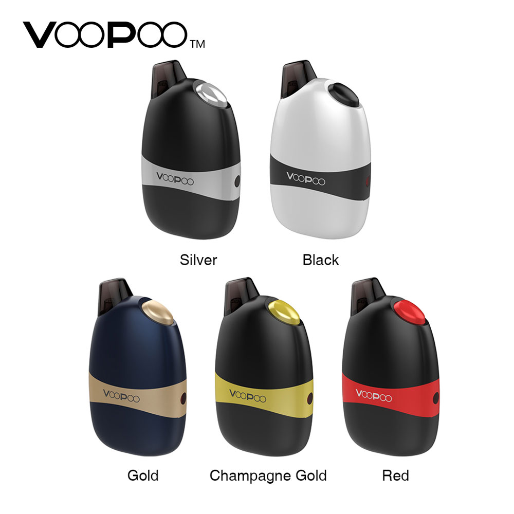 Original VOOPOO Panda Pod AIO Kit w/1100 mAh Battery & 5 ml/2 ml Pod All- em-Um Sistema Pod Pod E-cigarro vs Arrastar navo/kit de mico