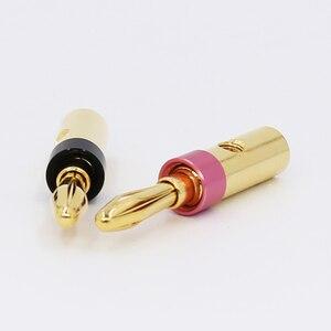Image 4 - 8 sztuk złota pozłacane UST wtyki bananowe 4mm wtyk bananowy dla wideo głośnik Adapter Audio