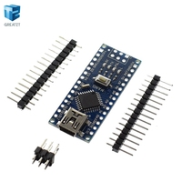 Freeshipping 10PCS Nano 3 0 Controller Compatible With Arduino Nano CH340 USB Driver NO CABLE NANO
