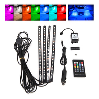 4pcs Car RGB LED Strip Light LED Strip Lights 30cm 18LED Car Styling Decorative Atmosphere Lamps