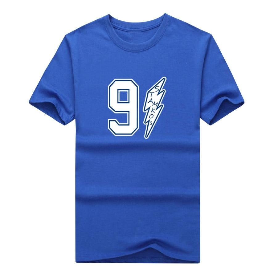 Shirt design tampa - 2017 Men T Shirt 91 Steven Stamkos 100 Cotton Tampa Bay Lightning Tees