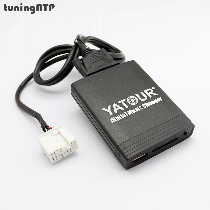 цена на YATOUR Digital Music Changer AUX-IN SD USB MP3 Adapter for Suzuki PACR-series Radios