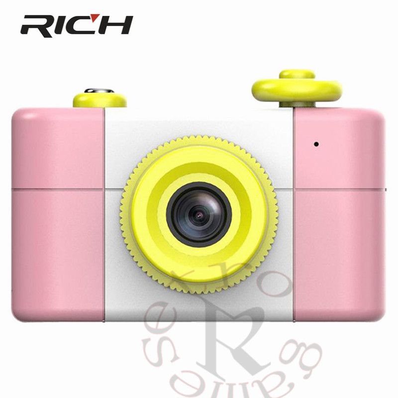 Cartoon Digital Small SLR Camera kids Gift For Children Cameras With Stickers Entertainment kids Camera Birthday Xmas Gifts