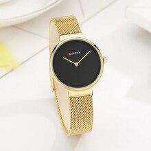 Elegant Design Women Quartz Watch with Stainless Steel Strap