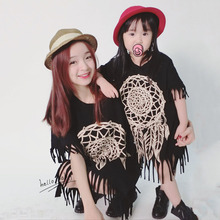 Printed Tassel Mother & Daughter Matching Dress
