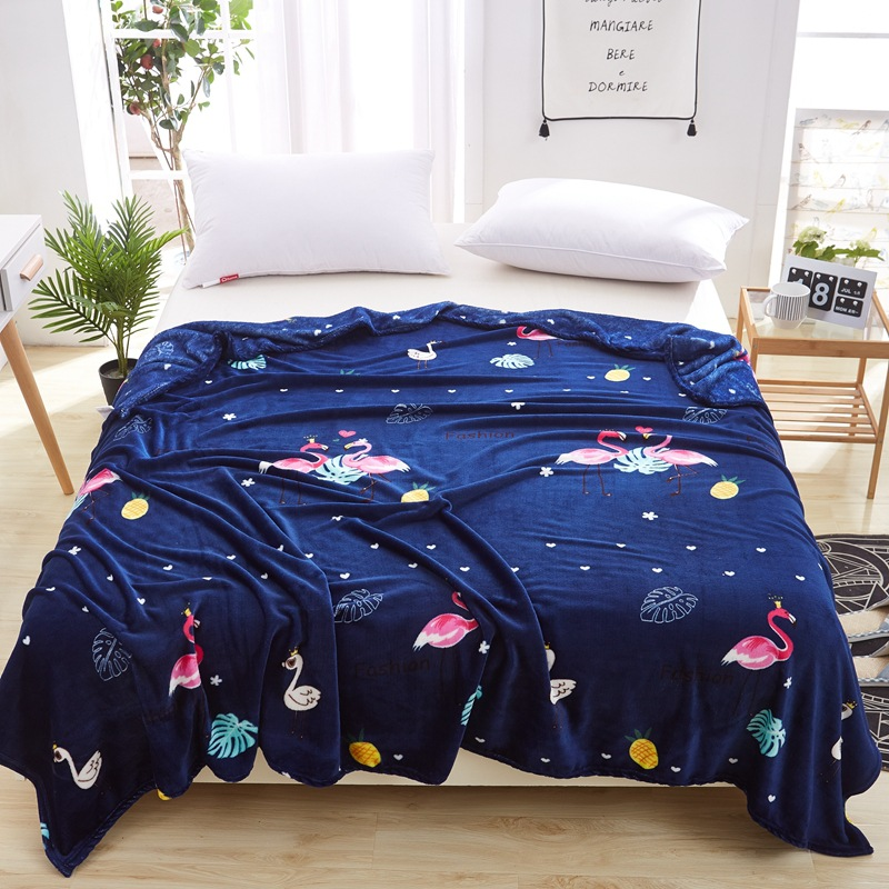 Soft Flannel Freece Blanket For Beds Cover Boys Girls Adults Blankets Flamingos Pink Cat Nap Throw