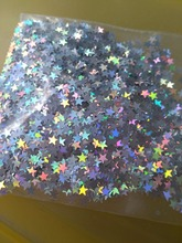 Silver Micro Star AB 3mm Holographic Laser STAR Shape Sequins for nail art decoration and DIY Supplies - 10g/bag