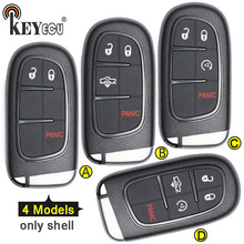KEYECU für RAM 1500 2500 3500, für Jeep Cherokee Ersatz 2 + 1 3/3 + 1 4/ 4 + 1 5 taste Remote Key Shell Fall Fob(China)