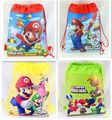 1pcs/lot Super Mario backpack Children Cartoon Drawstring school bags for boys Mixed 4 Designs,Kids Birthday Party Favor F401