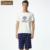 Qianxiu par pijama de manga corta pijama de los hombres 95% algodón ropa de dormir cómoda loungewear 1623