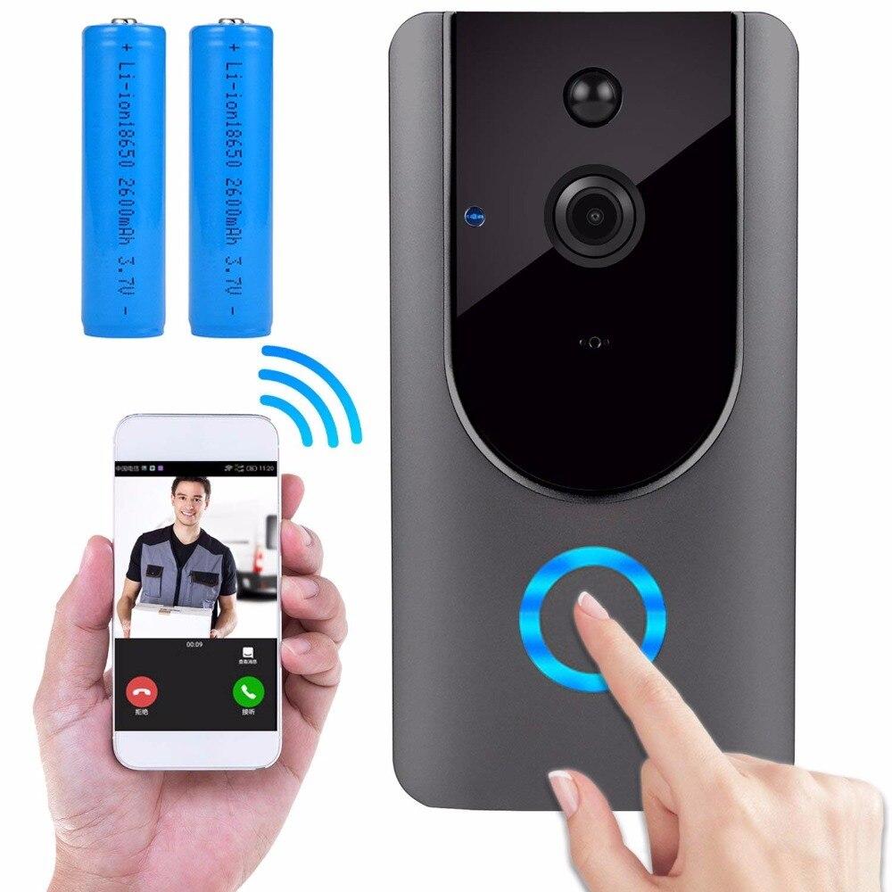 IP Video Intercom WiFi Smart Doorbell Camera Two-Way Audio Night Vision PIR Motion Detection Home security Doorbell Rechargeable spigen iphone 8 plus case