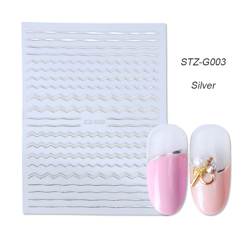 gold silver 3D stickers STZ-G003 siver