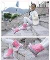 Botas de los niños niñas 2016 otoño y el invierno de la moda Gaotong gruesas felpa rosa caliente niños y niñas botas de invierno para niños niños