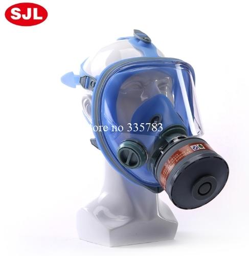Nuevo estilo de la cara llena respirador máscara de gas marca 7001 h2s máscara de gas respirador seguridad en el trabajo de pintura de pulverización de pesticidas máscara