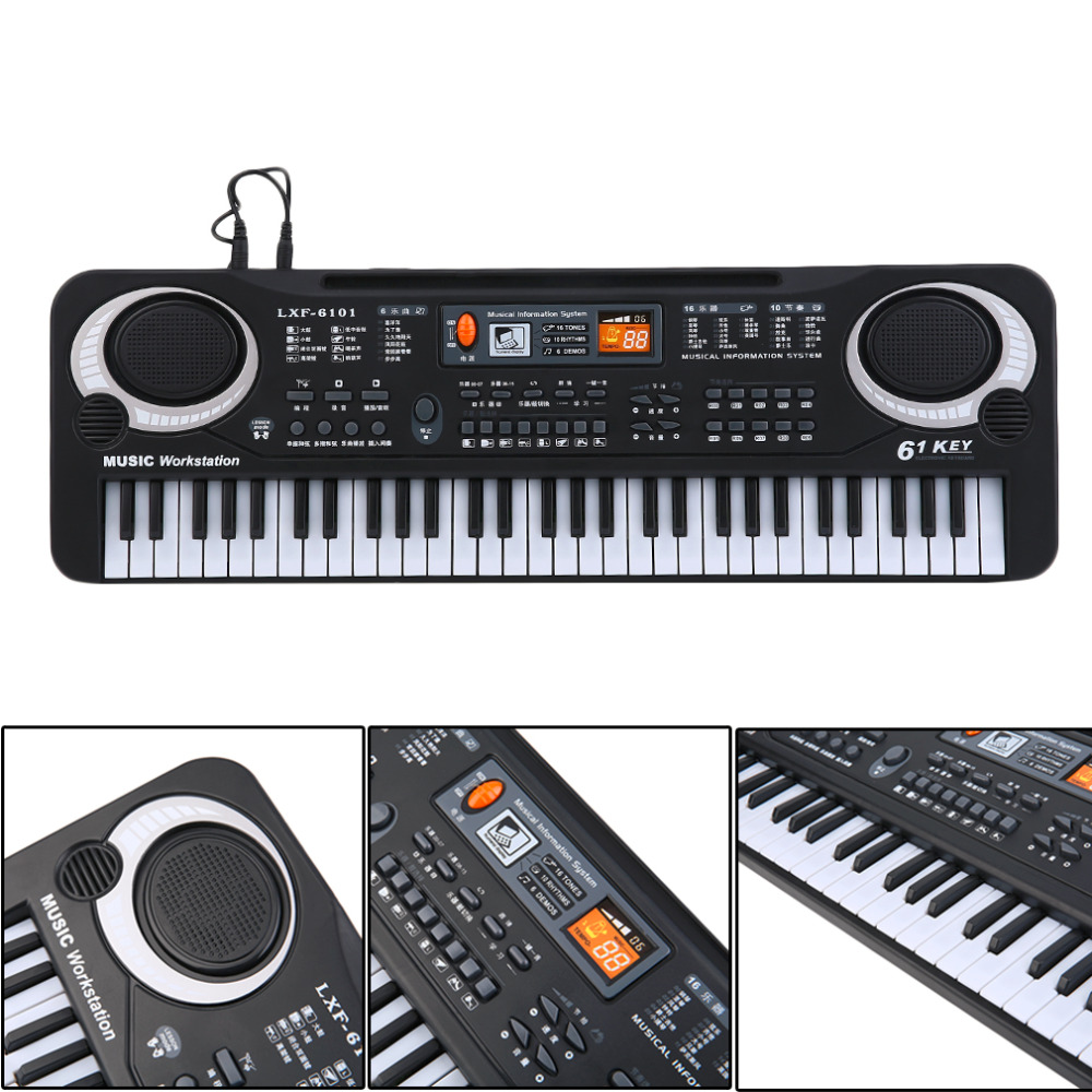 keyboard piano 61 keys weighted keys for kids learning training child gift xmas ebay. Black Bedroom Furniture Sets. Home Design Ideas