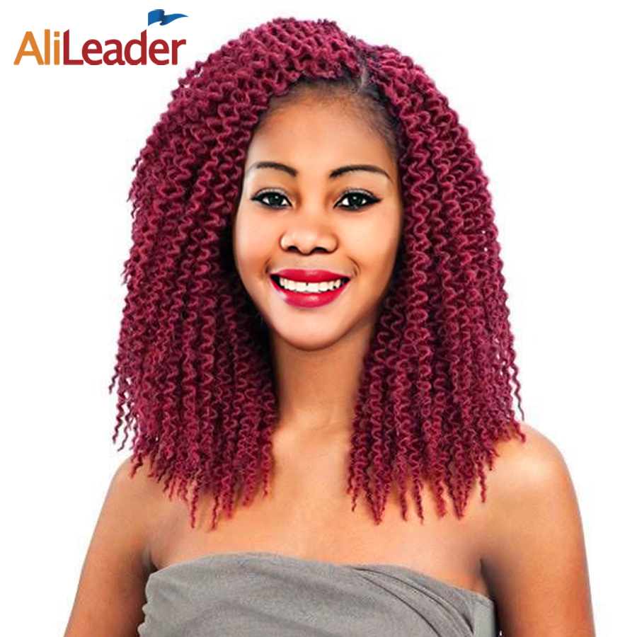 AliLeader Products Freetress Crochet Hair Extensions 12 18 22 Inch Long Crochet Braids Burgundy Kanekalon Braiding Hair Colors ...