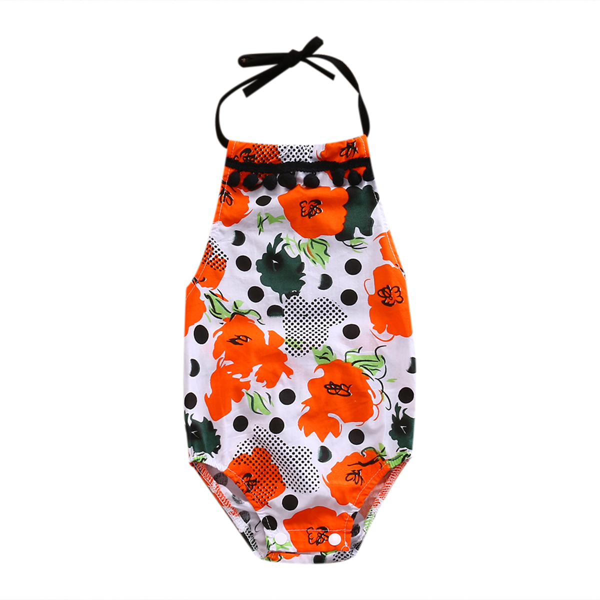 Newborn Infant Baby Girl Floral Romper Jumpsuit Cotton Summer Outfits One-Pieces Clothes