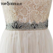 TOPQUEEN AS23 Royal Medal Craft Bride Evening Party Gown Dresses Accessories Wedding Sashes Belt/Waistband Bridal Belts Sashes
