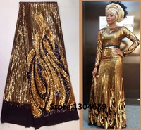 With Sequins French Net Lace African Swiss Tulle Mesh Guipure Lace Fabric High Quality For Dress