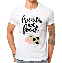 """Friends Not Food"" men's t-shirt"