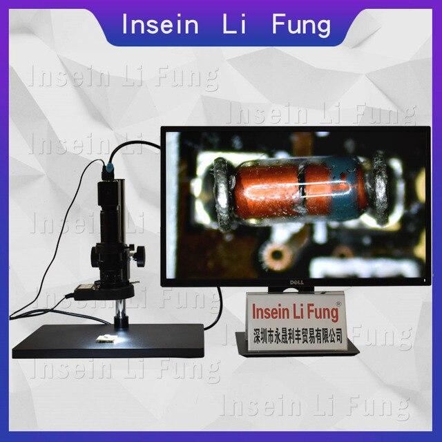 HD 1080P Công Nghiệp Video Một Mắt Kính Hiển Vi HDMI VGA USB Kính Phóng Đại 10X 300X Zoom Liên Tục Điện Thoại PCB Sửa Chữa Hàn