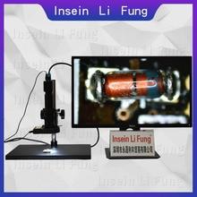 HD 1080P HD vídeo Industrial microscopio Monocular HDMI VGA USB lupa 10X 300X continua Zoom teléfono PCB de reparación de soldadura