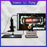 HD 1080P Industrial Video Monocular Microscope HDMI VGA USB Magnifier 10X 300X Continuous Zoom Phone PCB Repair Soldering