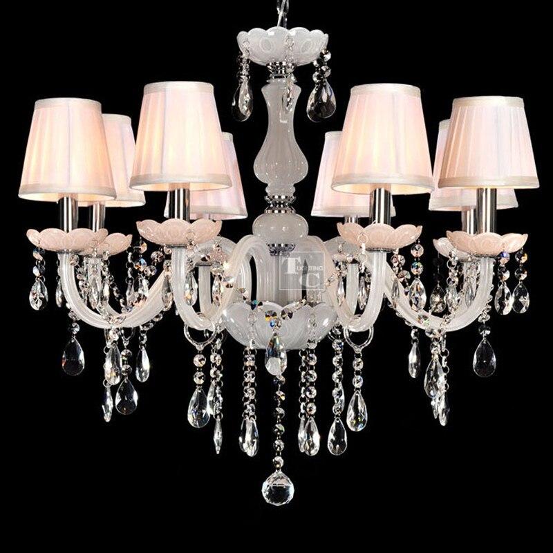 Křišťálový lustr osvětlení svíčka křišťálové světlo přívěsek lampa osvětlení pro obývací pokoj modemu světla v interiéru lampy doprava zdarma