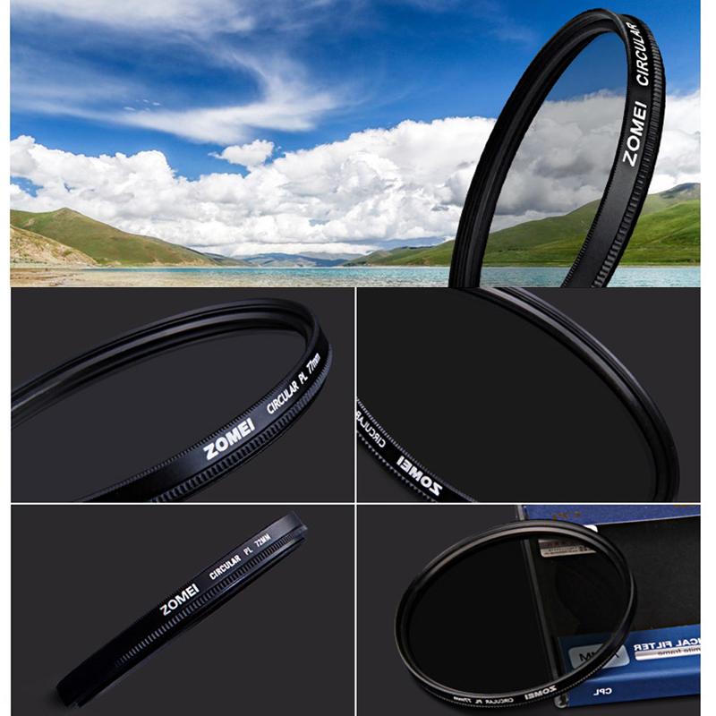 Circular-Polarizing Filter CPL Lens Filter 495255586267727782mm AGC Optical Glass for Nikon Sony Canon Camera Accessories-5-1