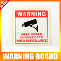 20Pcs Warning Board Monitored By Video Camera 80*80MM CCTV Security Camera Decal Sign Waterproof