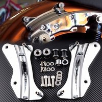 Chrome 4 Point Docking Hardware Kit For Harley Road King Road Glide 2014 up Parts Motorcycle