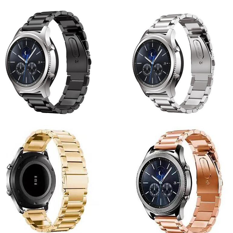 Stainless Steel band pebble time Huawei watch GT 2 pro zenwatch 1 2 Ticwatch 1 2 E pro c2 <font><b>amazfit</b></font> 2s 1 pace bip strap 20mm 22mm image