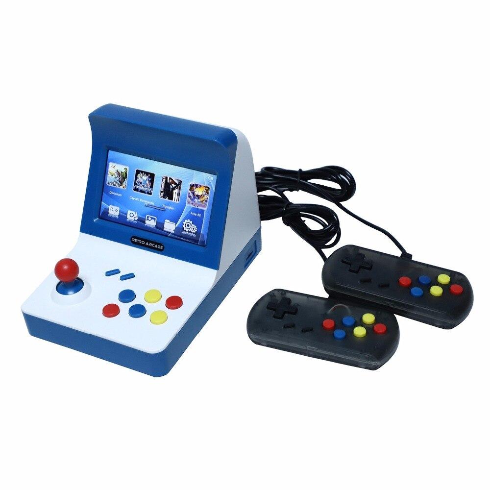 AAAE Powkiddy A8 Console d'arcade rétro Console de jeu joueur de jeu Machine 3000 jeux classiques manette contrôle AV Out 4.3