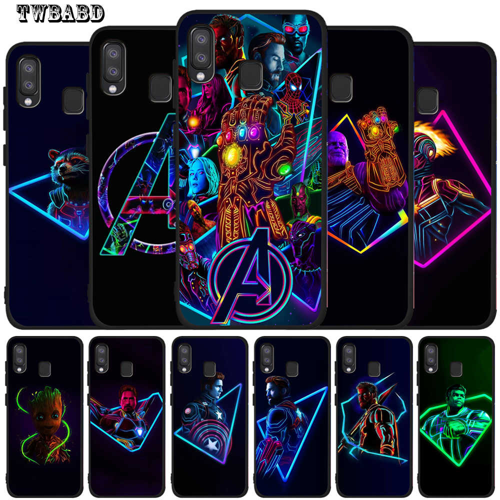 Marvel Avengers For Cover Samsung Galaxy A50 Thanos Iron Man Luxury Case for Smsung A20 A30 A40 A10 A70 M10 M20 Etui Back Cover