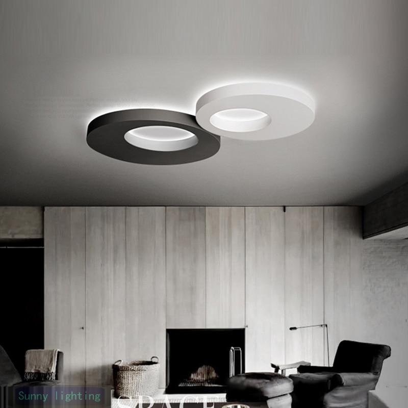 kitchen led lamp post modern led ceiling lights corridor balcony bedroom home black u0026 white round led strip light luminaria