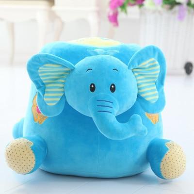 lovely cartoon elephant plush seat large 50x30cm elephant doll soft floor seat, birthday gift x054 цены онлайн